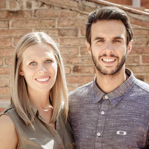 Abraham Crespo y Amy Gibson